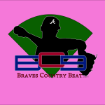 Braves Country Beat Logo (Pink Background)