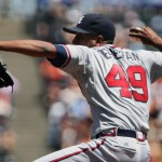 Teheran Struggles From the Start, Braves Blown Out in San Francisco